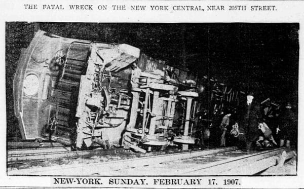 1907 Newspaper Article, Fatal Wreck on the New York Central