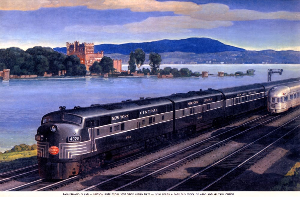 New York Central trains and Bannerman Castle