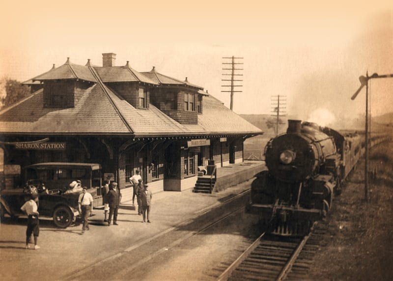 Historical Photo of Sharon Station