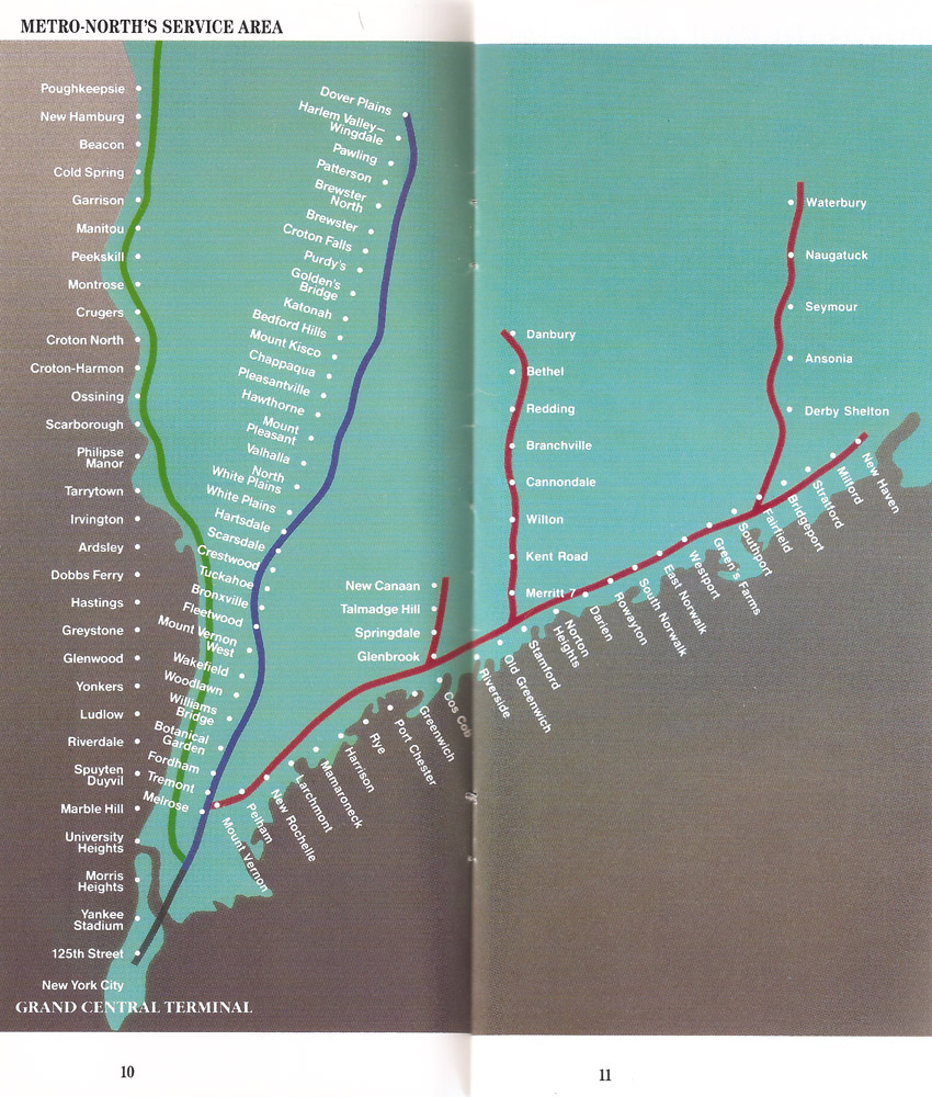 Tuesday Tour of MetroNorth A new system map I Ride The Harlem Line