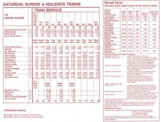 new haven line – I Ride The Harlem Line… on