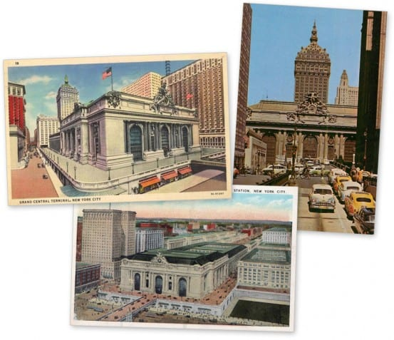 Sending postcards from Grand Central
