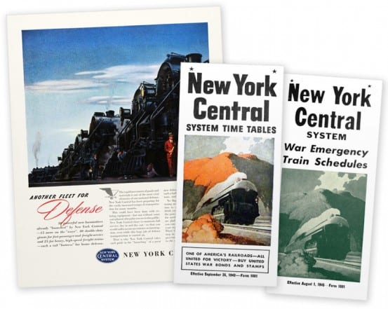 The railroads were quite involved in the war effort - through advertising, and the movement of troops and supplies