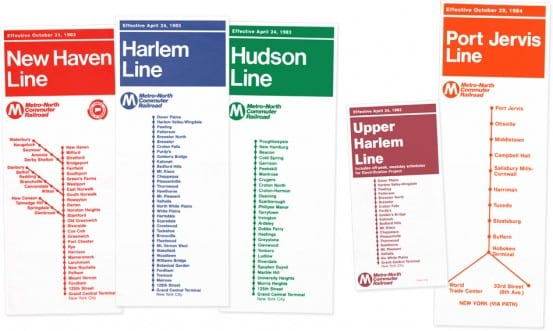 Early Metro-North Timetables