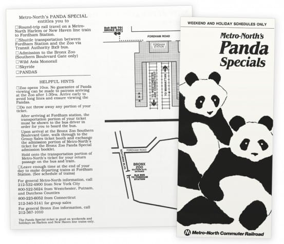 Metro North Panda Timetable