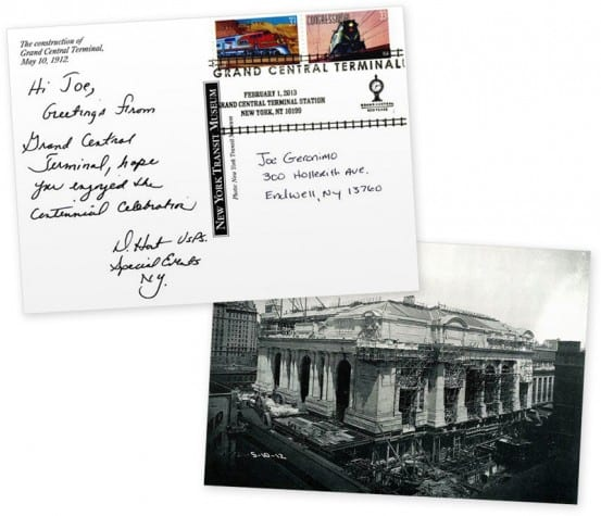 Stamped postcard