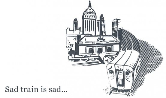 Sad train is sad...