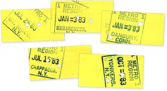 Ticket backs