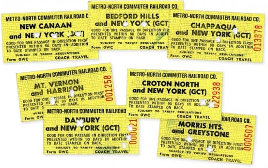 Ticket fronts