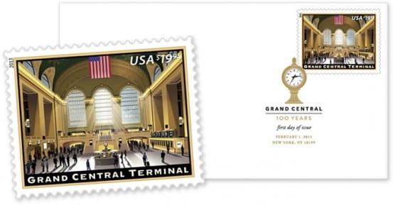 USPS Grand Central stamp