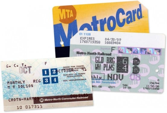 Modern Metro-North Tickets