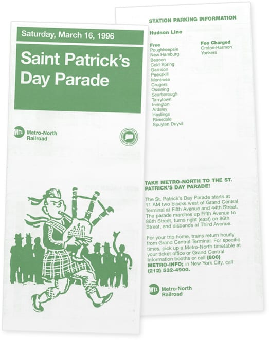St. Patrick's Day Parade Timetable
