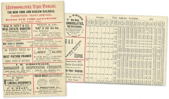 Train timecard from Pawling