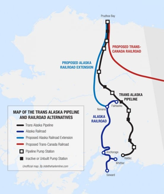 Alaska Pipeline Map