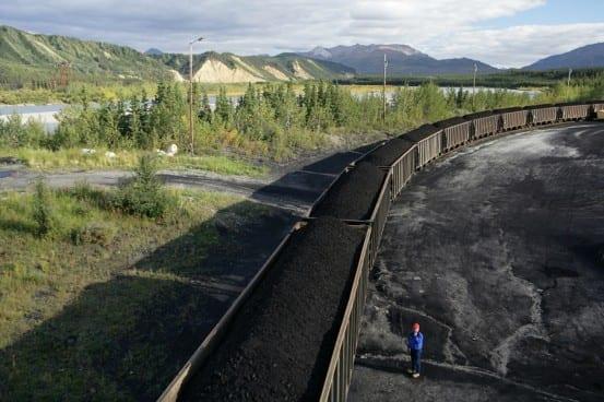 Usibelli's coal ships via the Alaska Railroad