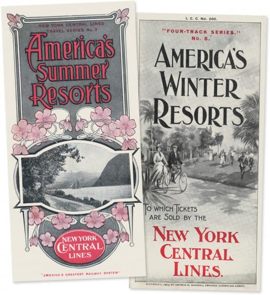 New York Central vacation brochures