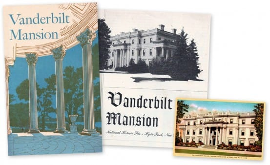 Postcard and brochures from the Vanderbilt Mansion
