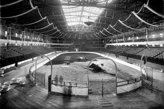 The Ring At The Second Madison Square Garden Is Being Readied For The  National Horse Show.