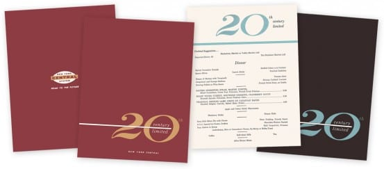 20th Century Limited Menus