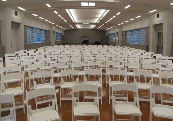 Event space in the old terminal