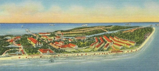 Early view of Cedar Point