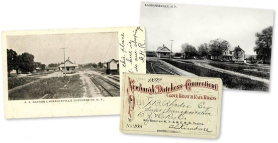 Postcards and ticket from the station