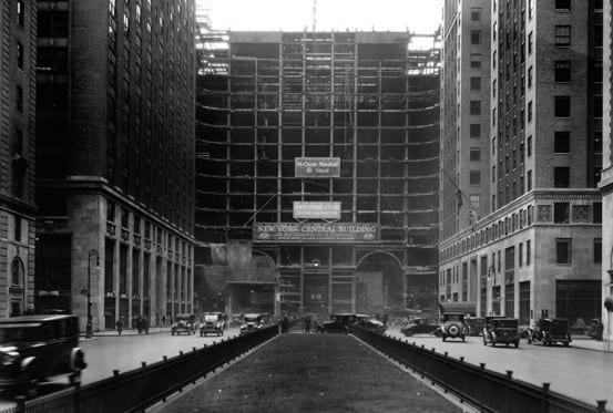 Construction on the New York Central building