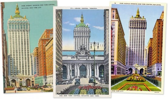 Postcards showing the New York Central Building