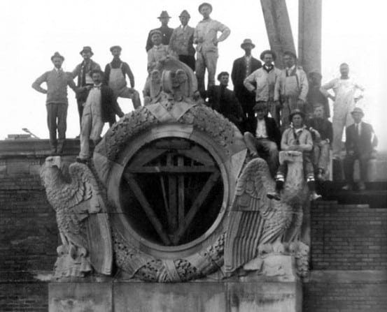 Workers at Utica
