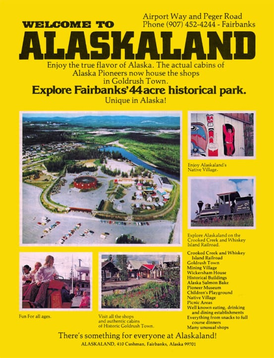 1981 brochure for Alaskaland