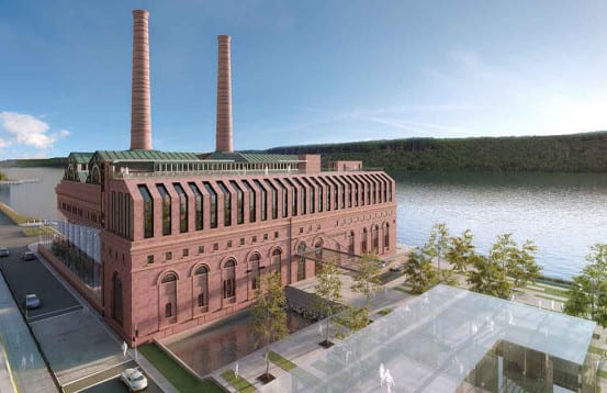 Rendering of the redeveloped power station