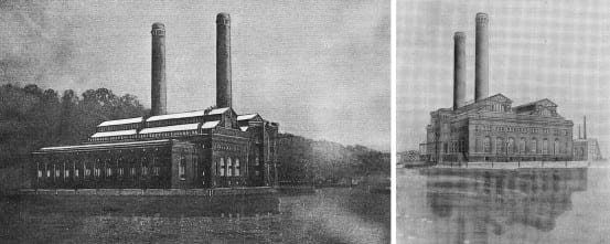 1905 sketches of the New York power stations