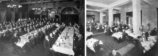Bible study group and one of the second floor dining rooms