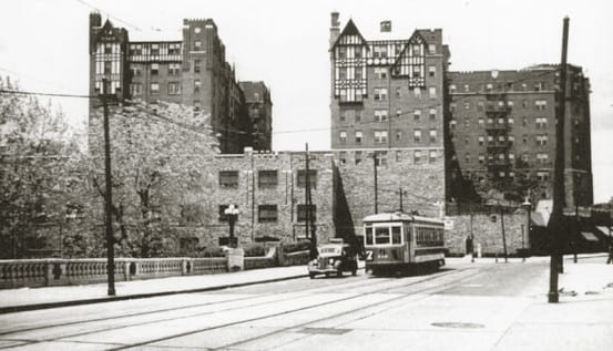 Trolley line in Mount Vernon
