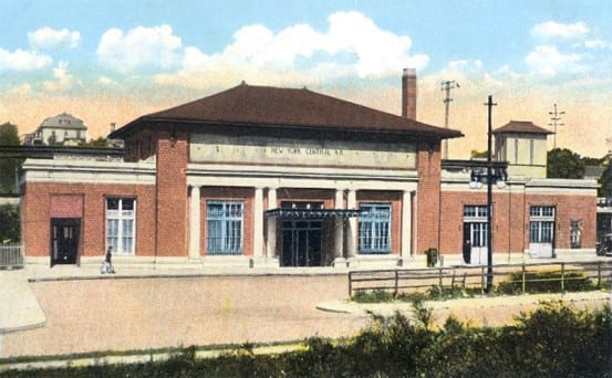 Postcard view of Mount Vernon station
