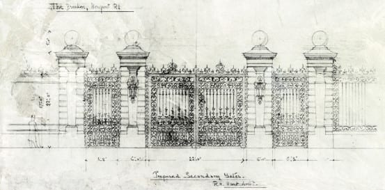Sketch of the gates for The Breakers