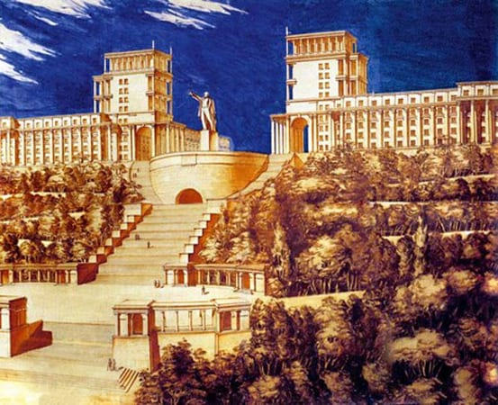 A grandiose plan by the Soviets to replace St. Michael's cathedral and the funicular