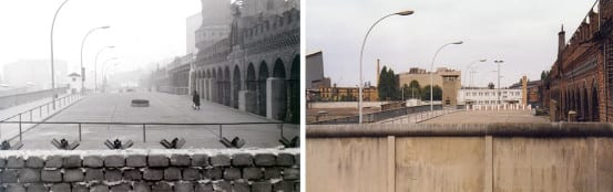 Progression of the Berlin Wall