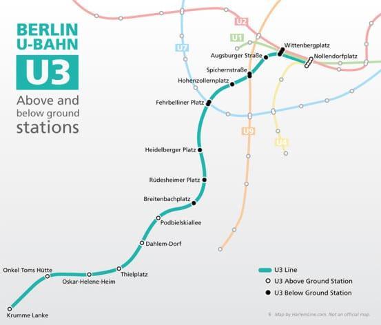 Map of the U3 Line