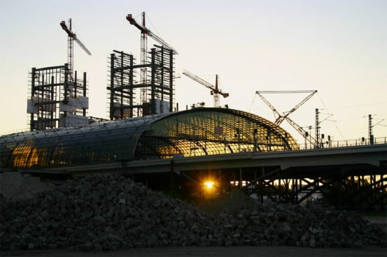 Construction of the Berlin Hauptbahnhof