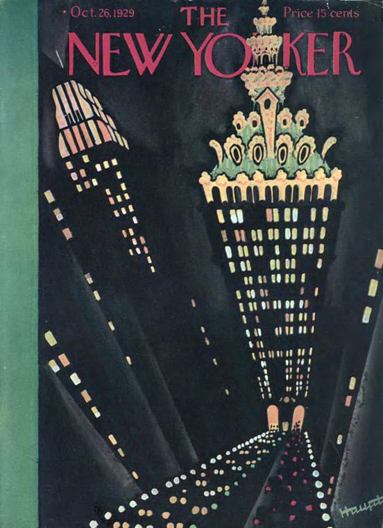 Railroad covers of The New Yorker
