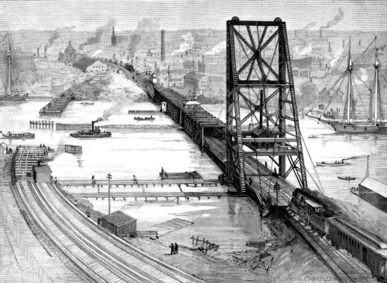 Previous railroad bridge over the Harlem River