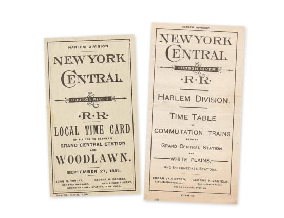 Harlem Division timetables that bear the name George H. Daniels