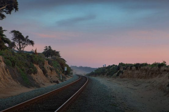 Sunsets on the rails