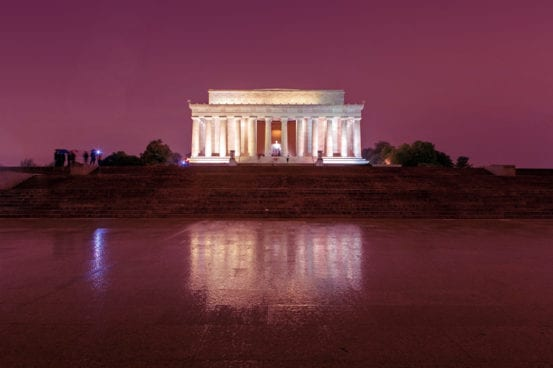Rainy nights in Washington DC