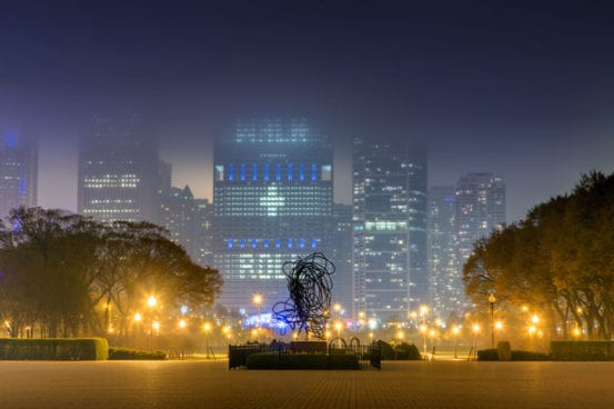 Foggy nights in Chicago