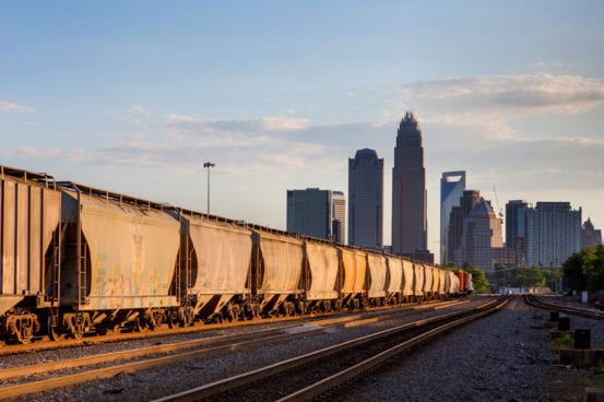 Lines of freight into Charlotte