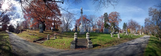 Borden's final resting place at Woodlawn Cemetery