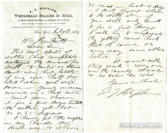 Milk Depot Letter