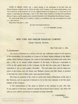 Letter sent to shareholders